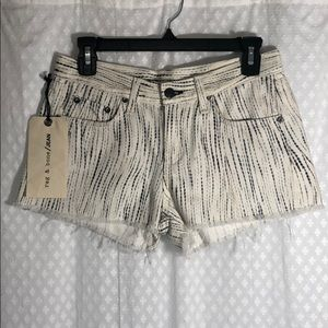 Rag & Bone Riptide Print Cut Off Shorts